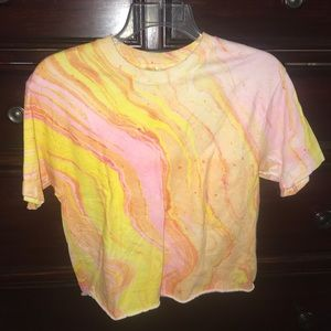 Pink and Yellow Marble Top